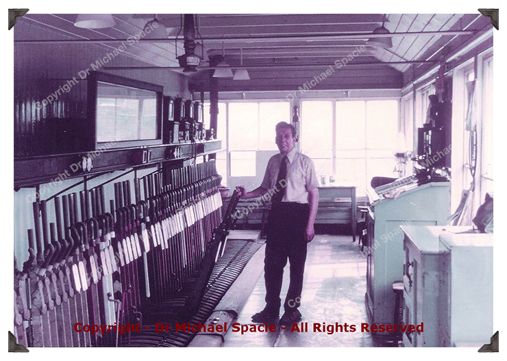 Michael's Father in one of the signal boxes he worked in